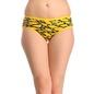 Set Of 3 Multi-coloured Cotton Mid Waist Bikinis