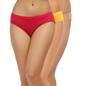 Set of 3 Cotton Mid Waist Bikini - Pink, Yellow & Skin