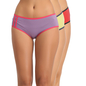 Set of 3 Cotton High Waist Hipsters - Purple, Green & Red