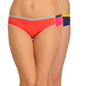 Set Of 3 Cotton Mid Waist Bikinis - Orange, Pink & Blue