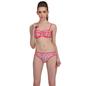 2 Pc Polyamide Swimsuit of Balconette Bra & V-Shaped Bikini In Red