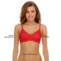 Cotton Rich Non-padded Wirefree T-shirt Bra In Red