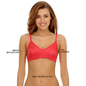Cotton Rich Non-padded Wirefree T-shirt Bra In Reddish Pink