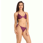 String Bra Brief Set In Purple