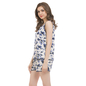 Top & Shorts With Floral Prints - White