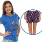 Trendy Graphic T-Shirt With Short In Blue