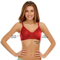 Cotton Non-Padded Wirefree T-shirt Bra With Moulded cups - Red