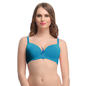 Turquoise Push Up Bra With Detachable Straps & Demi Cups