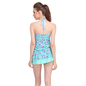 2 Pc  Polyamide Padded Floral Print Swimsuit In Sea Green
