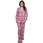 Two Piece Night Suit In Floral Print
