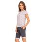 White Cotton Printed Top & Shorts
