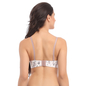 White Push Up Bra With Detachable Straps & Laser Cut Finish