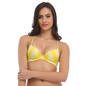 Yellow Push Up Bra With Detachable Straps & Laser Cut Finish