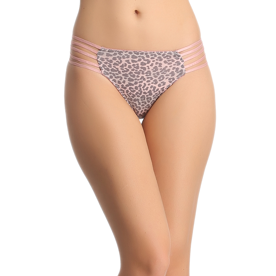 Polyamide 5 Strings Printed Bikini In Peach