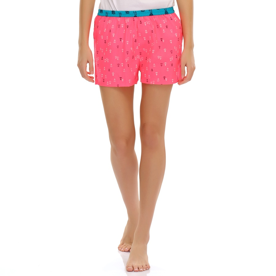 Anchor Printed Cotton Shorts