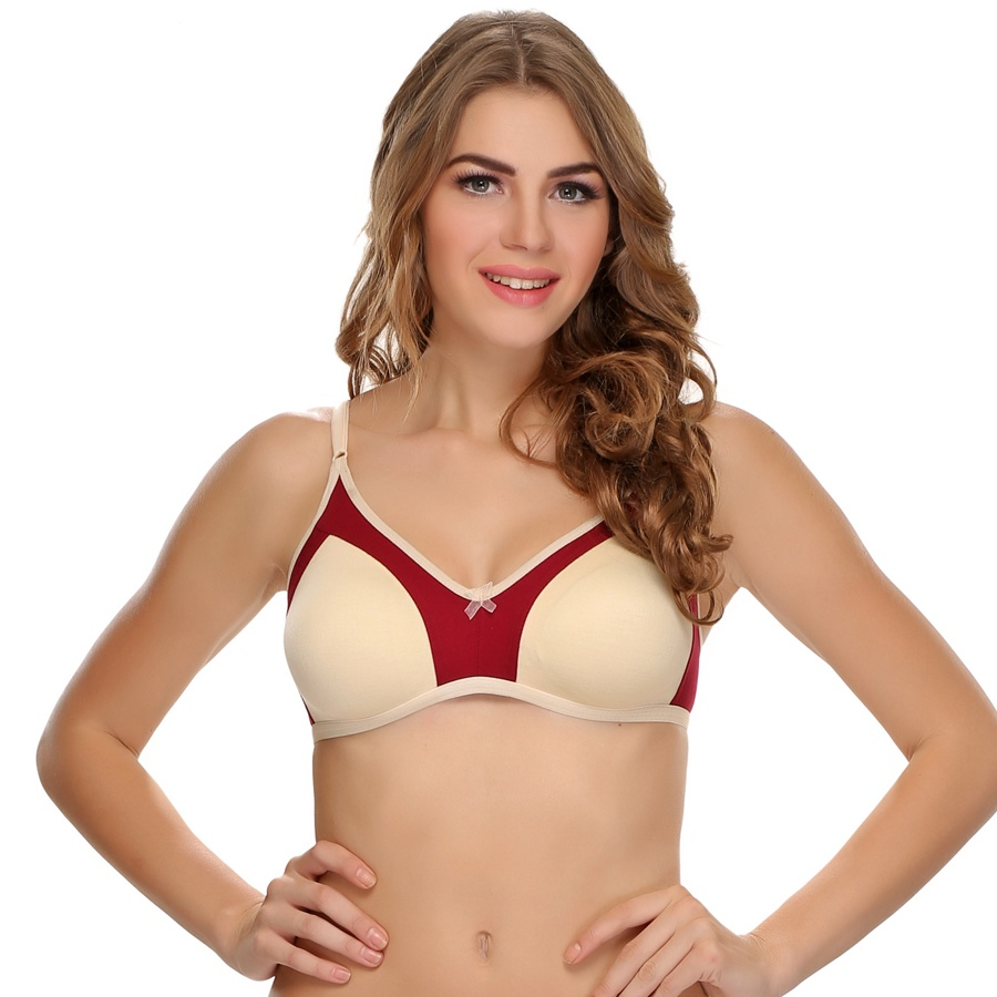 Double Layered Comfy T-Shirt Bra In Beige
