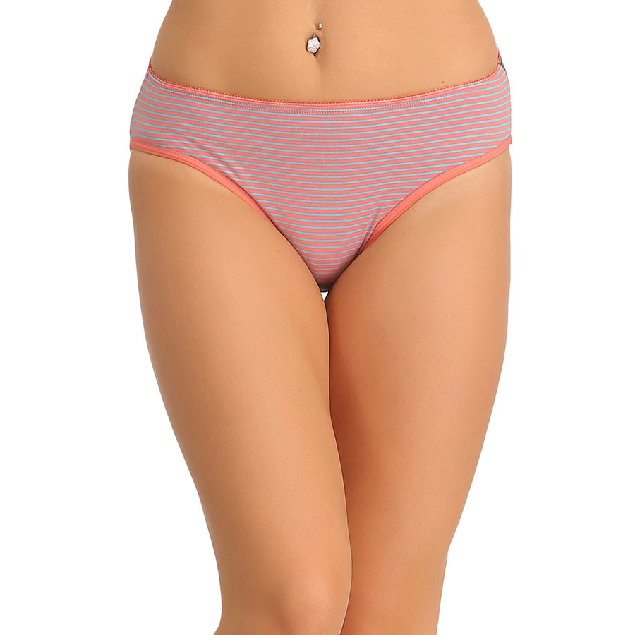 Cotton High Waisted Hipster - Orange