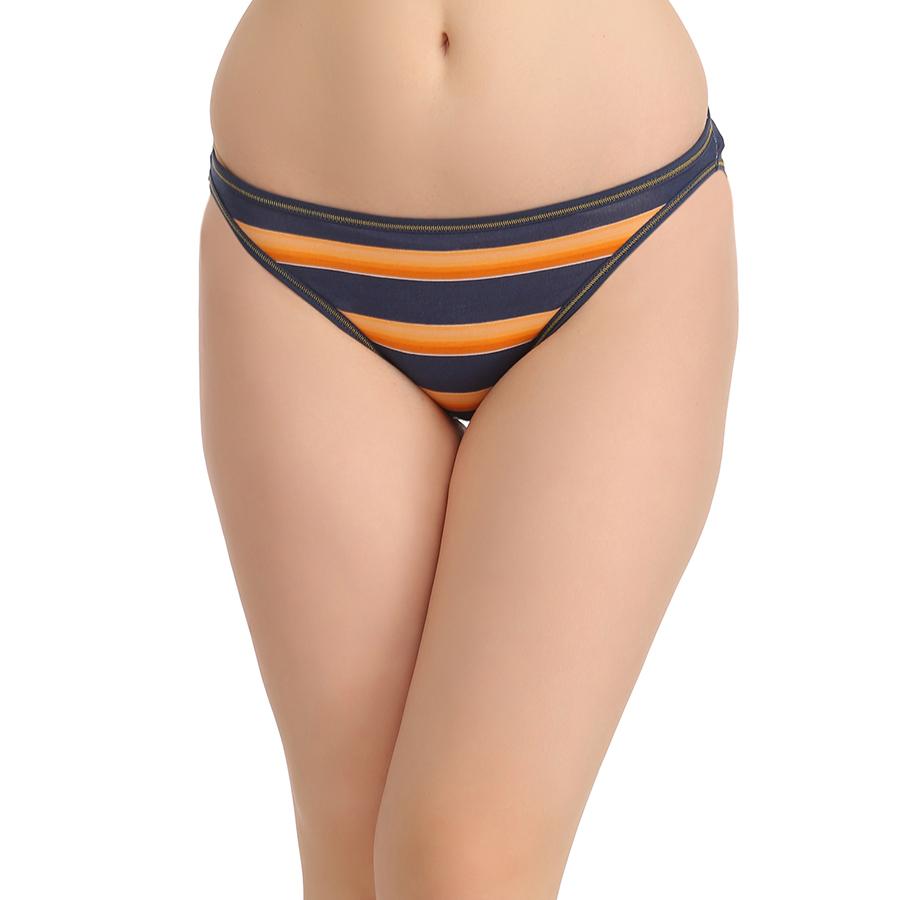 Cotton Low Waist Bikini - Orange