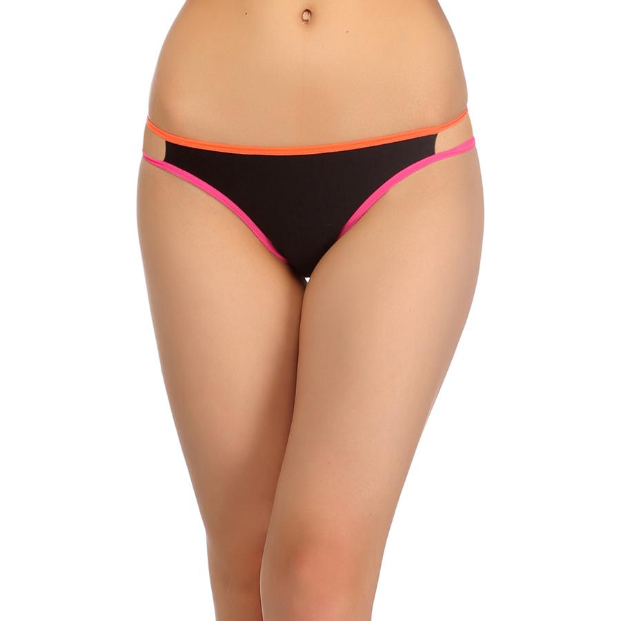 Cotton & Spandex Bikini In Orange