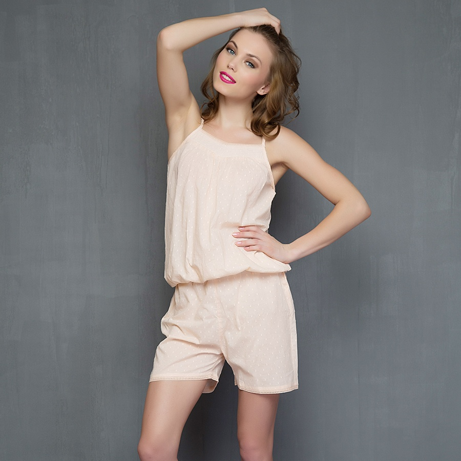 Cotton Rose Blush Cami and shorts