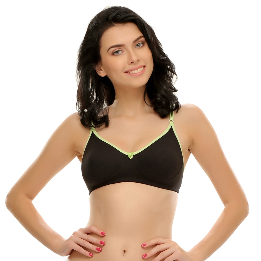 Cotton T-Shirt Bra In Black