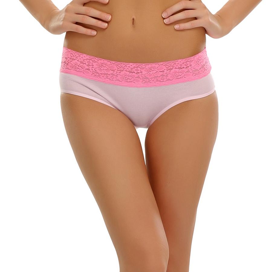 Cute Pink Bikini With Lace Trims