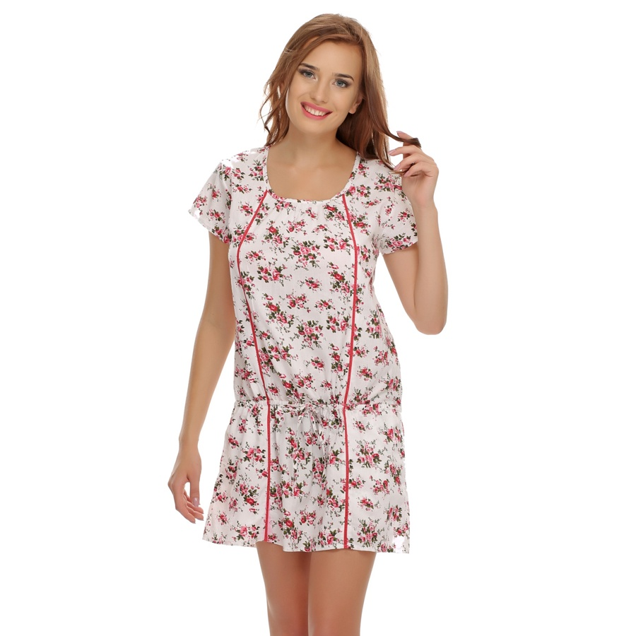 Floral Cute Gathered Nightdress