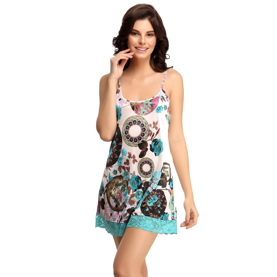Fresh Floral Babydoll In Turquoise