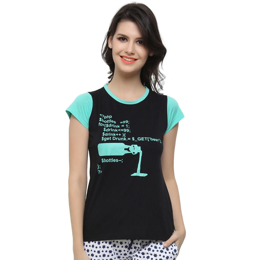 2Pc Graphic T-Shirt With Short