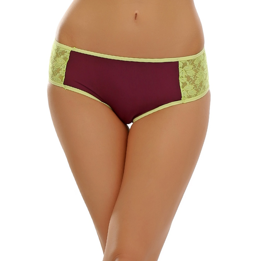 Lace Hipster In Grape Wine