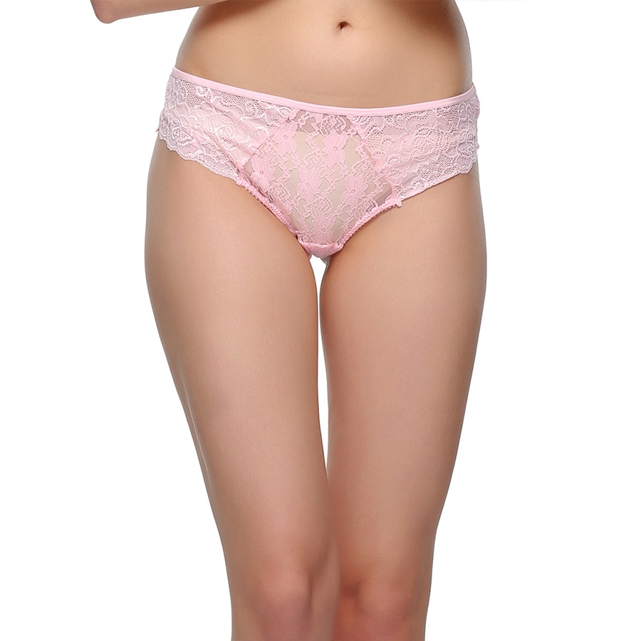 Lacy Hipster In Light Pink