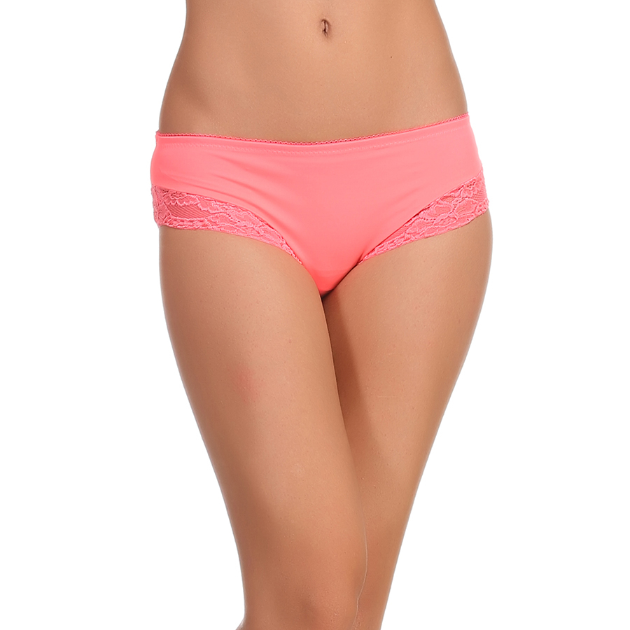 Lacy polyamide Hipster In Peach