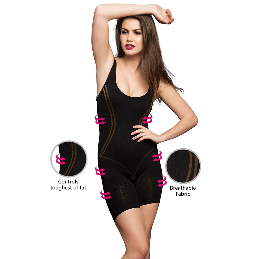 Laser-Cut No-Panty Lines High Compression Body Suit