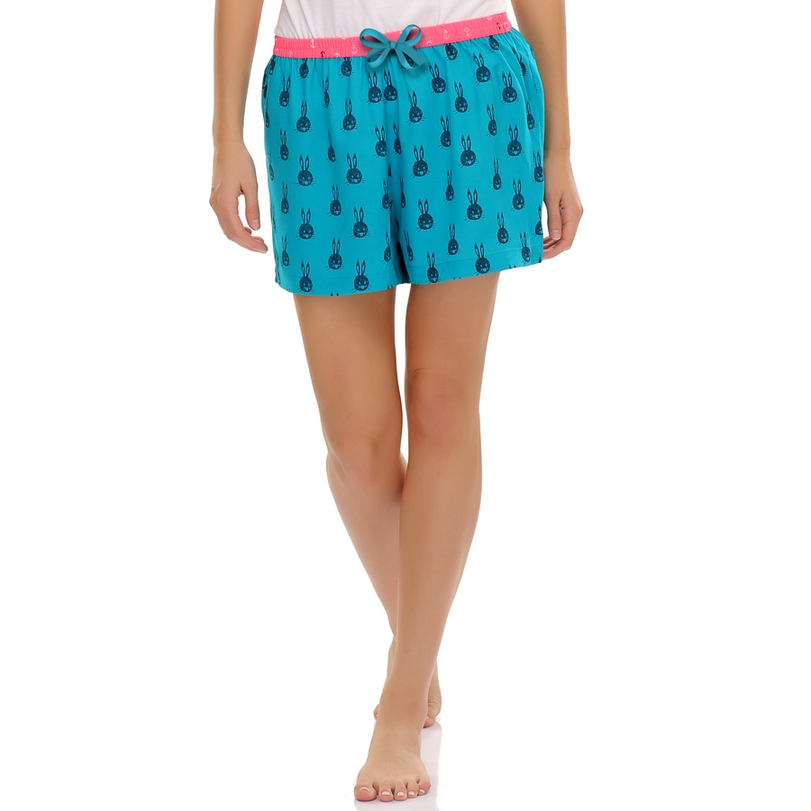 Bunny Printed Cotton Shorts