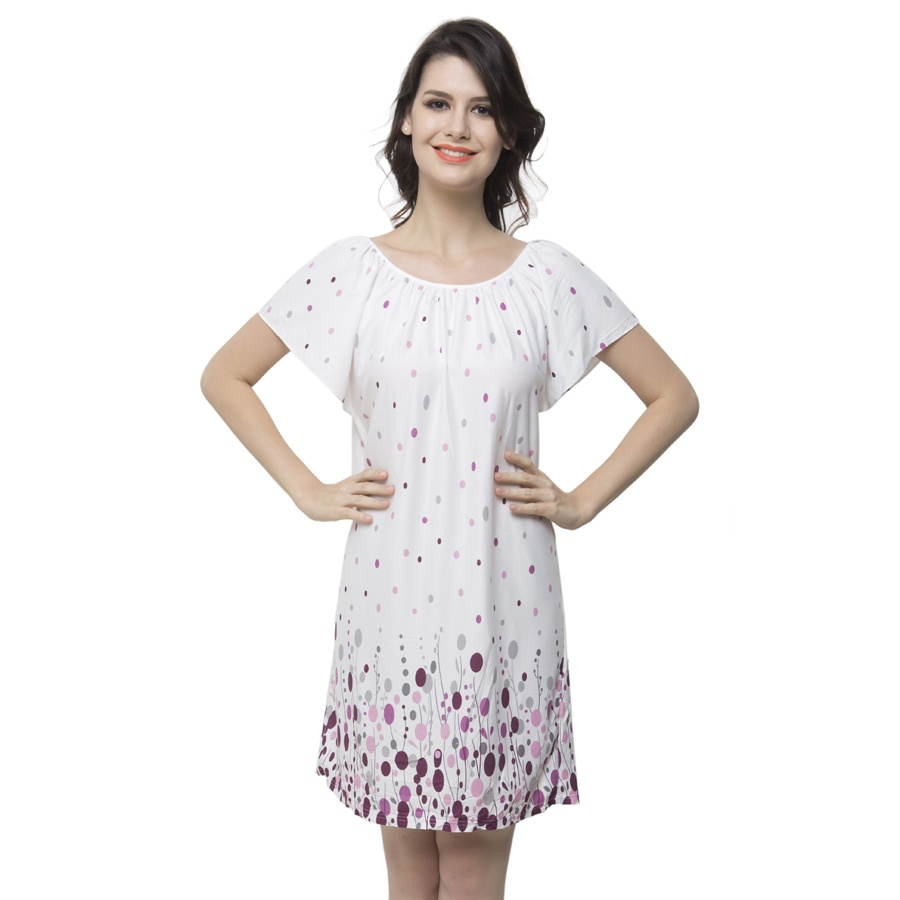 Short Nightdress With Cute Prints