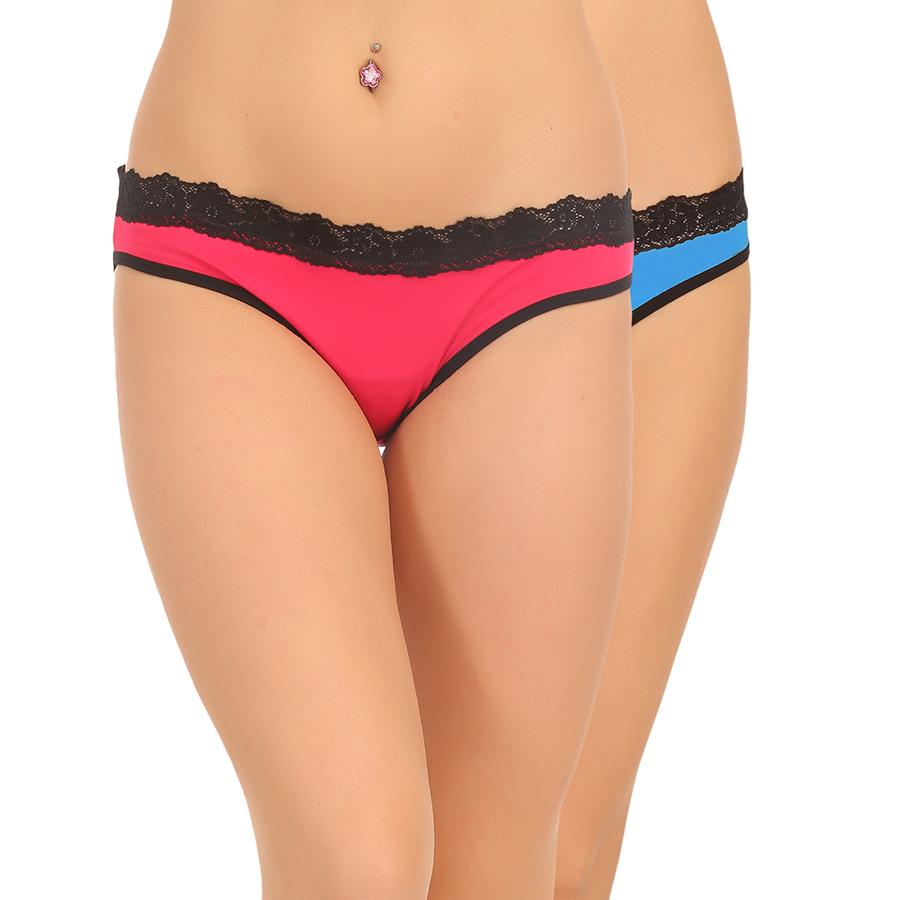 Pack Of 2 Mid Waist Bikini In Multicolor