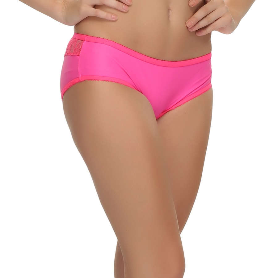 Pink Fashionable Panty In Glossy Finish