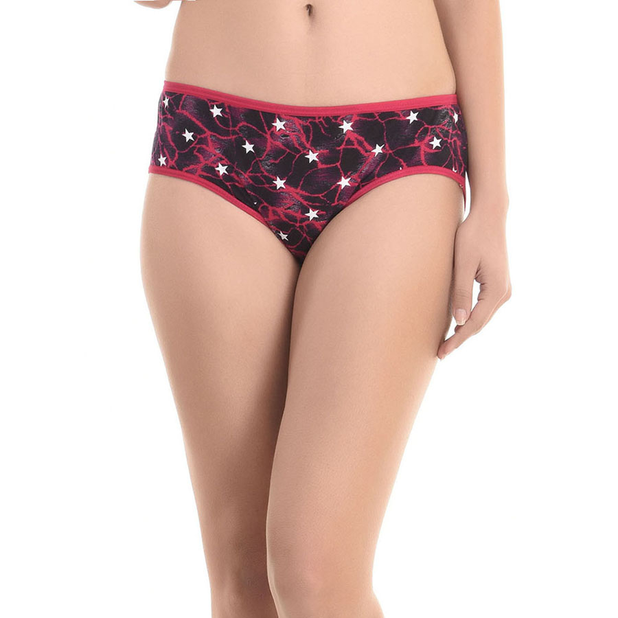 Cotton High Waist Panty - Dark Pink