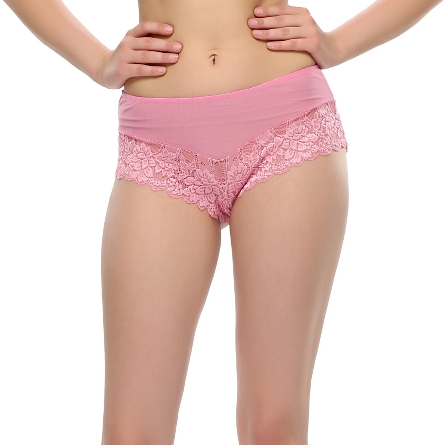 Floral Pink Lace Sexy Panty