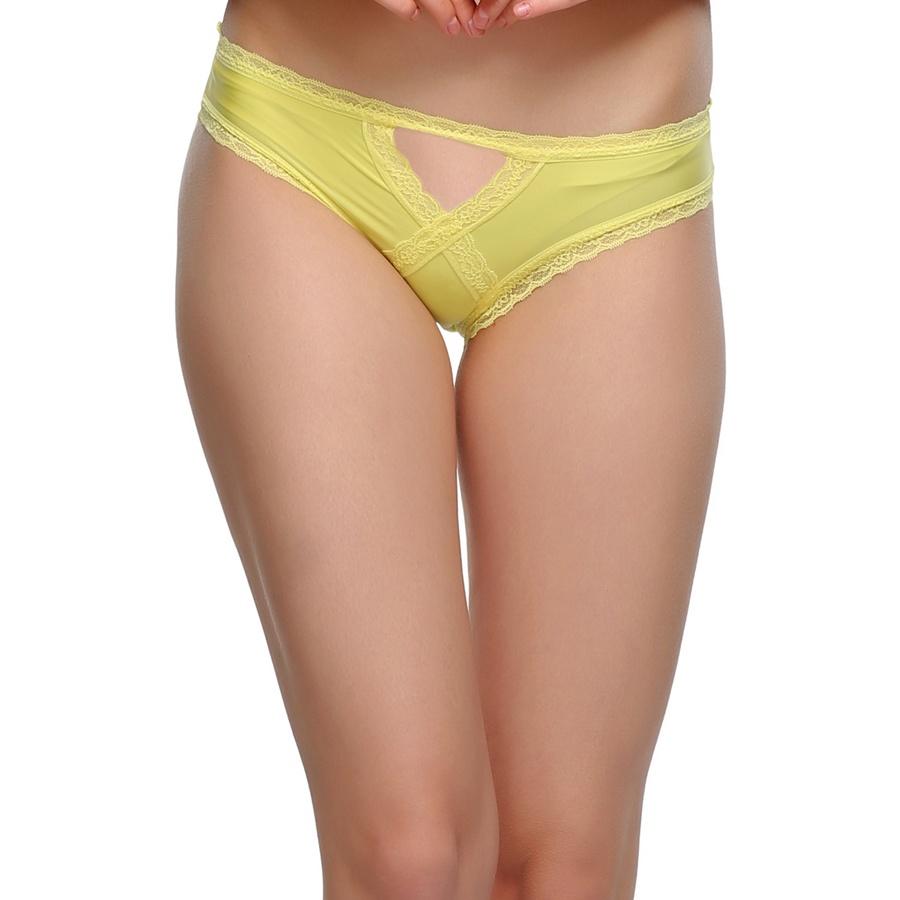 Polyamide with Spandex & Lace Bikini In Yellow