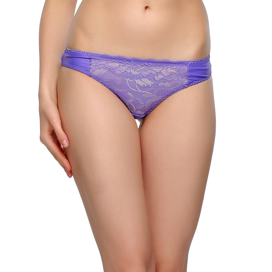 Sexy Lacy Thong In Purple