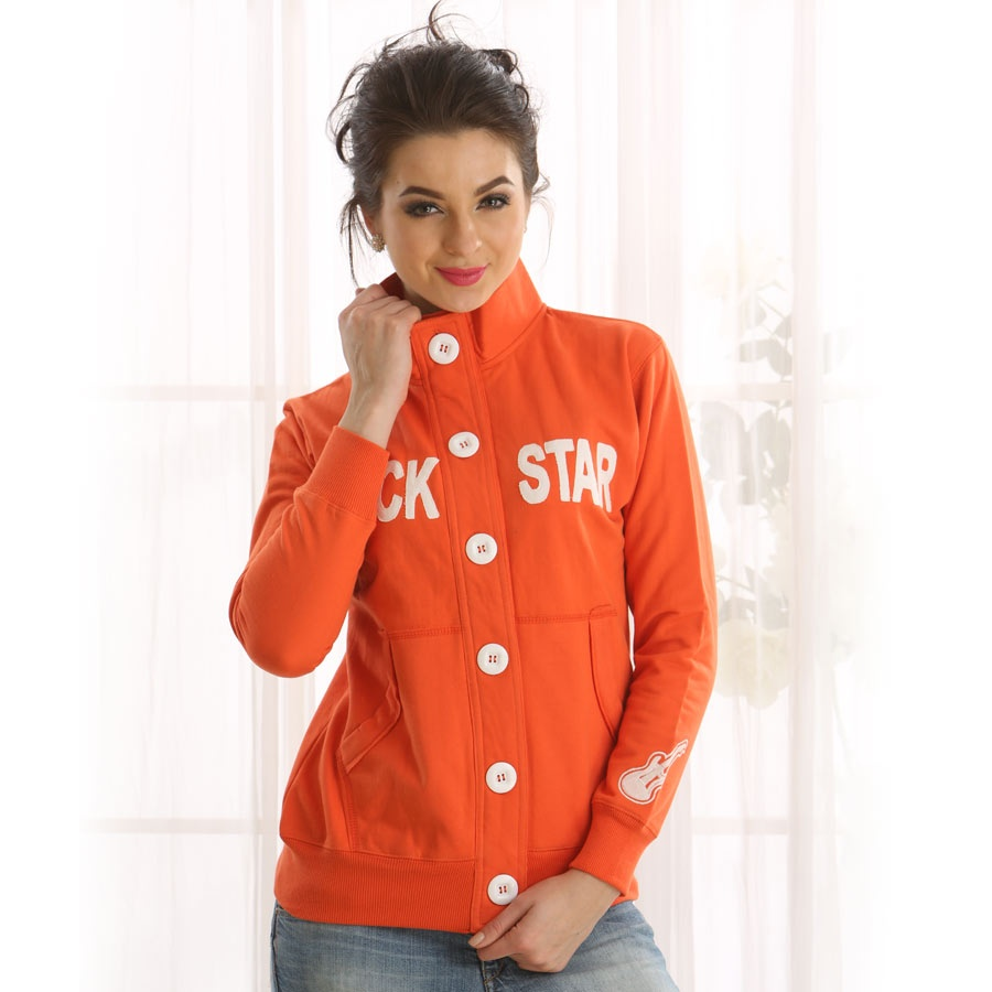 Rockstar Clovia Jacket In Orange