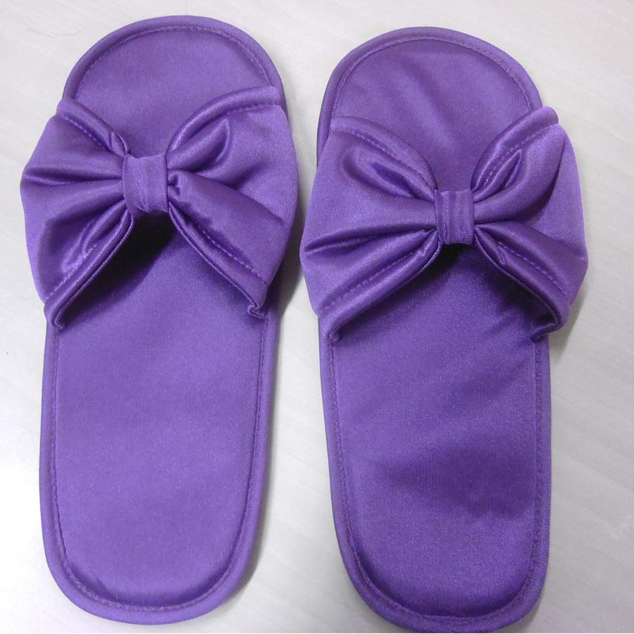 Satin Slippers In Purple