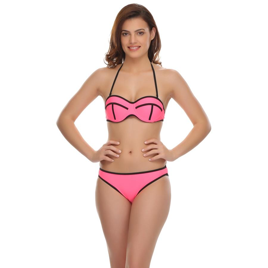 2 Pc Swimwear in Neon Pink