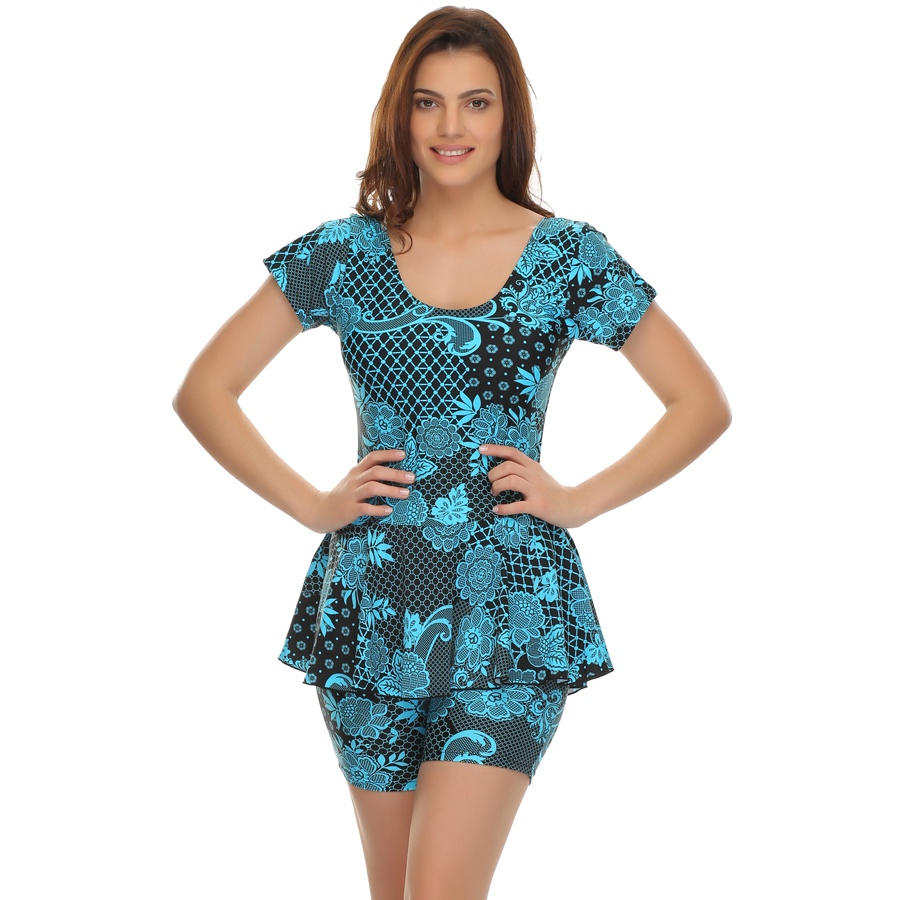 Frock Swimsuit In Trendy Prints