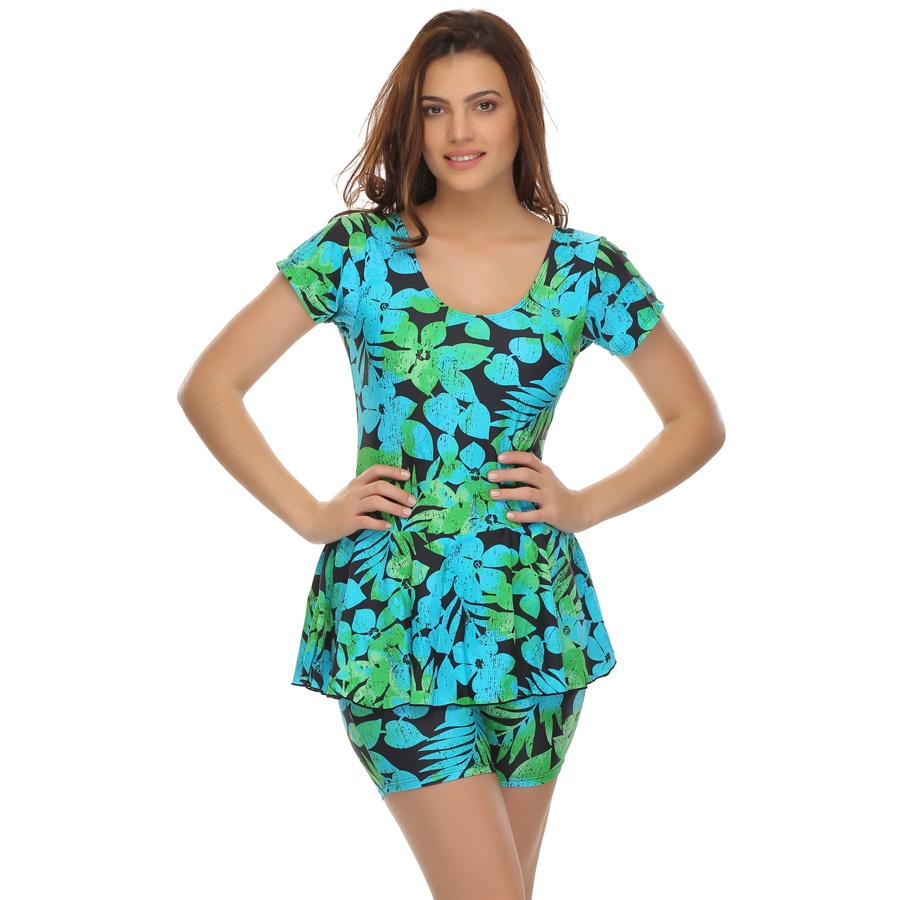 Printed Frock Swimsuit