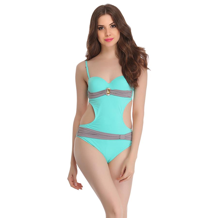 Soft Polyamide Monokini Swimsuit In light Green