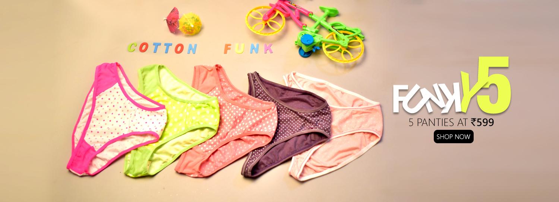 5 Panties At 599