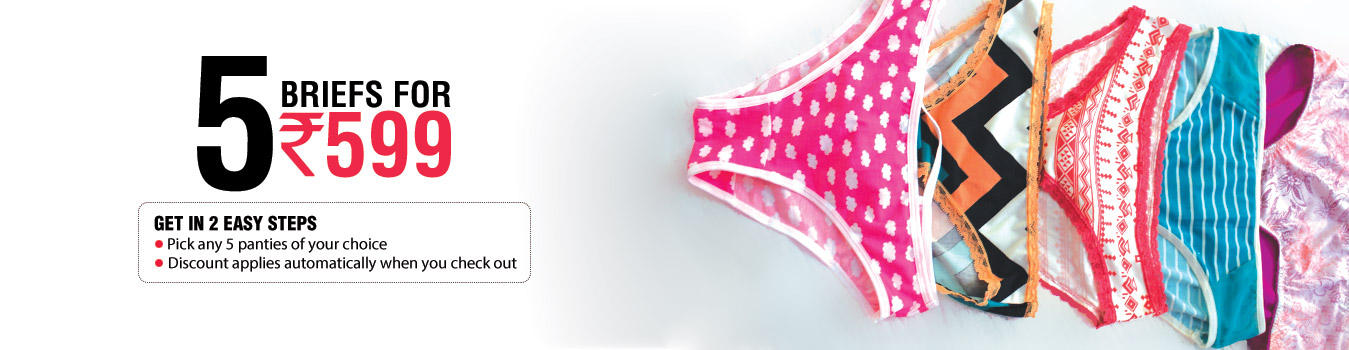 5 briefs for Rs 599 – Shop online at Clovia.com