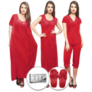 9 Pc Nightwear Set - Red